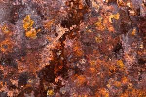 Illustration de la corrosion du métal : la rouille