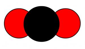 modele moléculaire du dioxyde de carbone