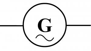 symbole normalisé d'un générateur alternatif