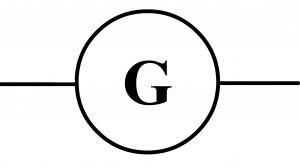 symbole normalisé générateur courant continu
