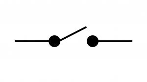 Symbole normalisé d'un interrupteur ouvert