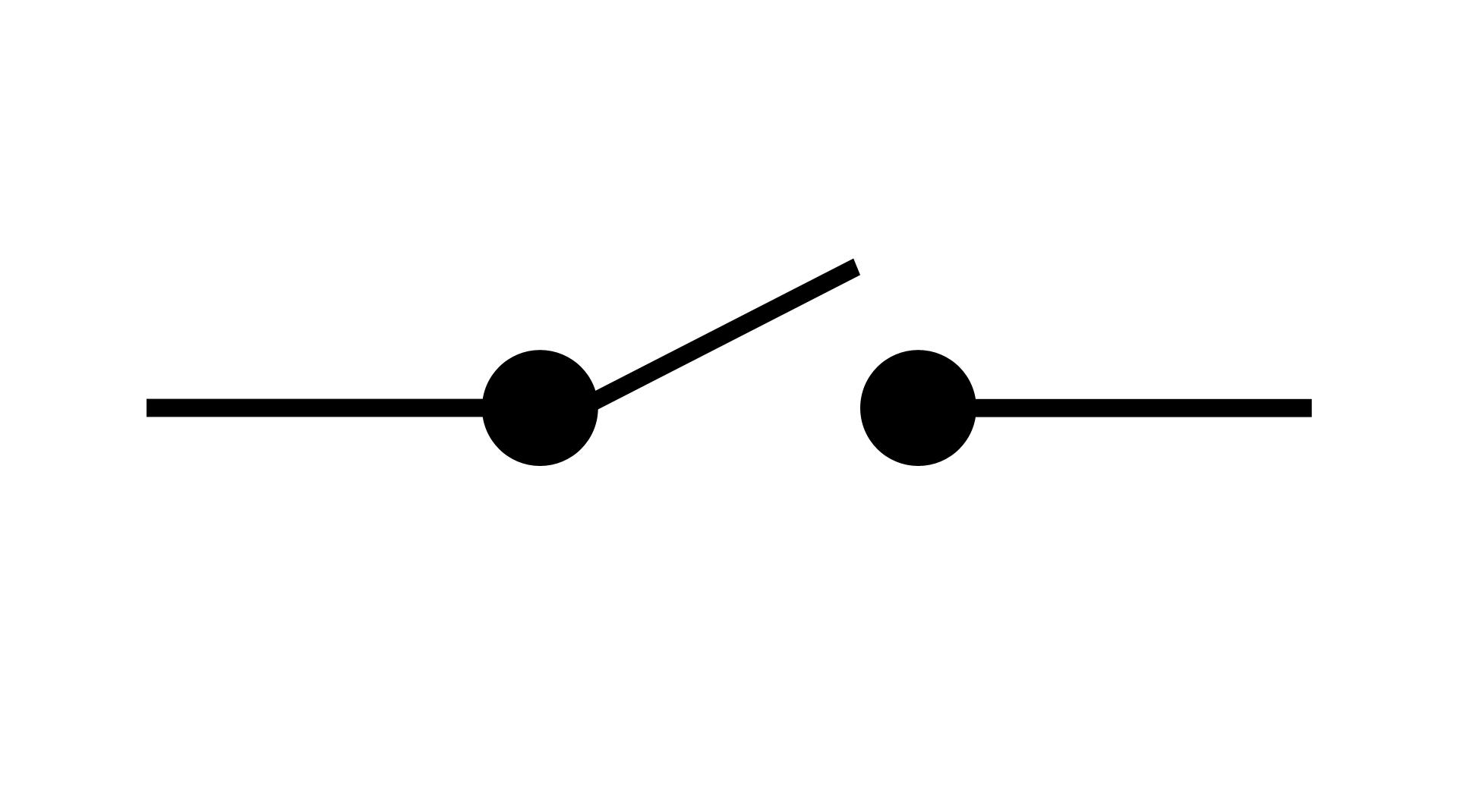 Symbole Normalisé Du0027un Interrupteur Ouvert