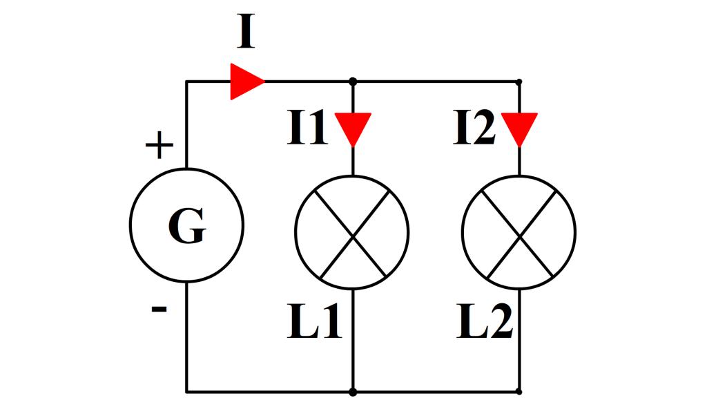 loi d'additivité dans un circuit à deux branches dérivées