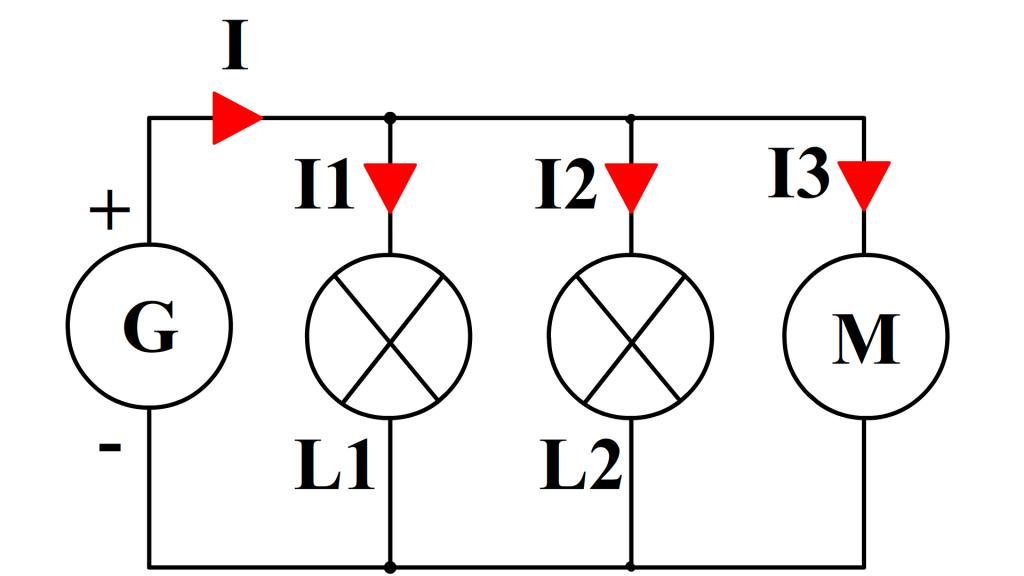 loi d'additivité dans un circuit à trois branches dérivée