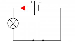 sens du courant dans un circuit en série