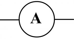 symbole normalisé ampèremètre