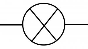 Symbole normalisé de la lampe