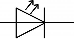 symbole normalisé d'une DEL