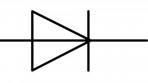 symbole normalisé d'une diode