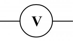 Symbole normalisé d'un voltmètre