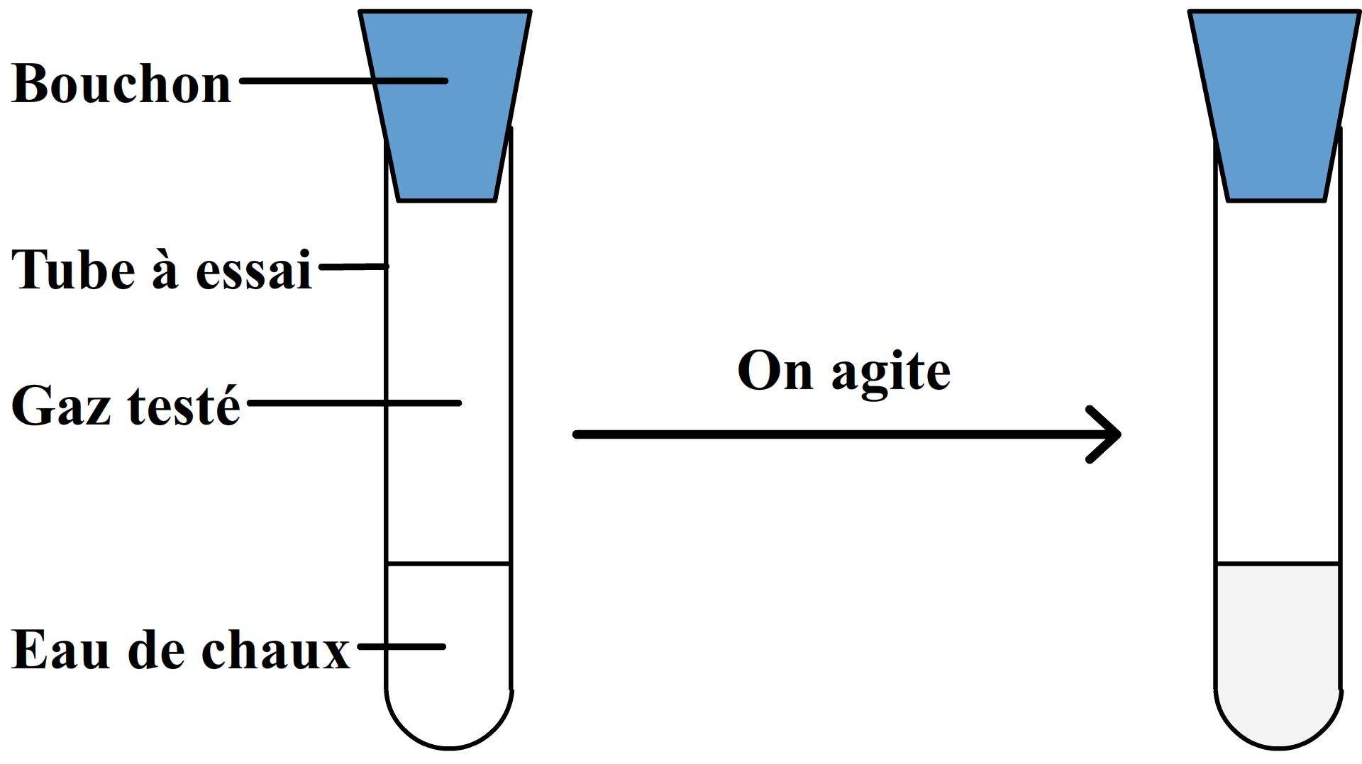 Superb A Quoi Sert L Eau De Chaux #2: Test De Reconnaissance Du Dioxyde De Carbone Agitation