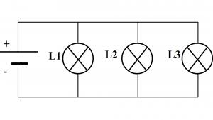Lampe grillée ou dévissée dans un circuit en dérivation